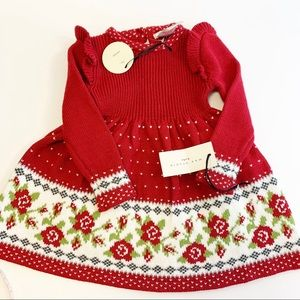 Max Studio 6-9months girl's sweater dress floral